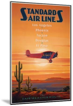 Standard Airlines, El Paso, Texas-Kerne Erickson-Mounted Art Print