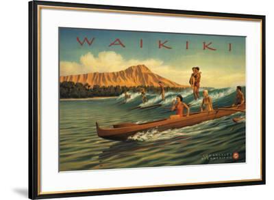 Waikiki-Kerne Erickson-Framed Art Print