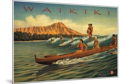 Waikiki-Kerne Erickson-Mounted Art Print