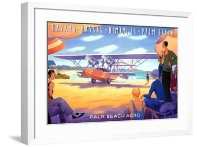 Palm Beach Aero-Kerne Erickson-Framed Art Print
