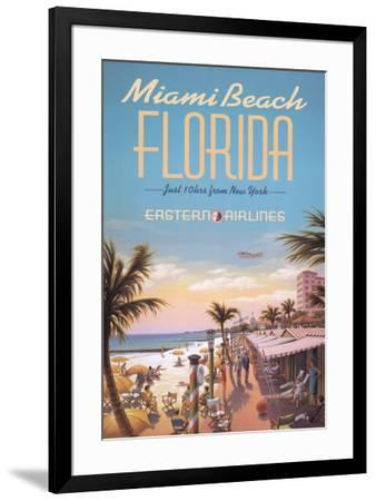 Miami Beach-Kerne Erickson-Framed Art Print