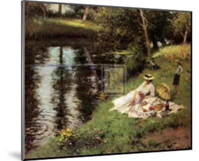 Picnic on the Riverbank-Fernand Toussaint-Mounted Art Print