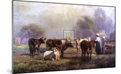 Early Morning Milking-J^ Scheltema-Mounted Art Print