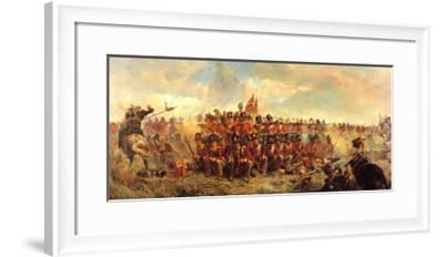 Quatre Bras, 1815-Lady Butler-Framed Art Print