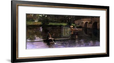 The Bridge at Grez-Sir John Lavery-Framed Art Print