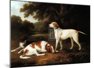 Pointer and Two Spaniels in a Park-Charles Henry Schwanfelder-Mounted Art Print