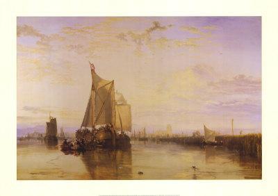 The Dort Packet-Boat from Rotterdam-J^ M^ W^ Turner-Framed Art Print