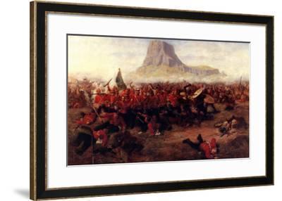The Battle of Isandhlwana, 1879-Charles Edwin Fripp-Framed Art Print