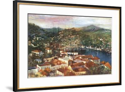 Village Cove-Michael Longo-Framed Art Print