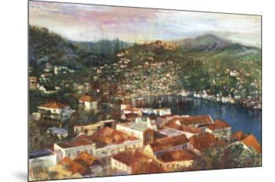 Village Cove-Michael Longo-Mounted Art Print
