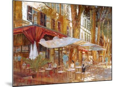 Cafe Primavera-Michael Longo-Mounted Art Print
