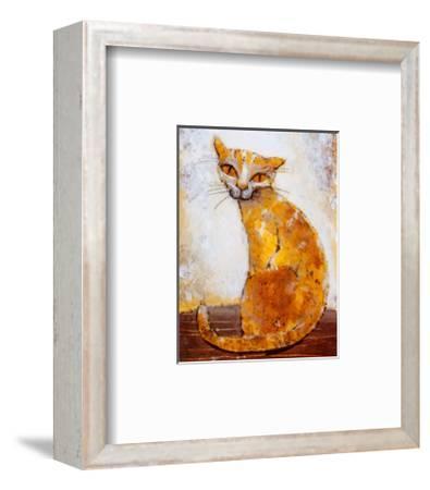 Cat-Silvana Crefcoeur-Framed Art Print
