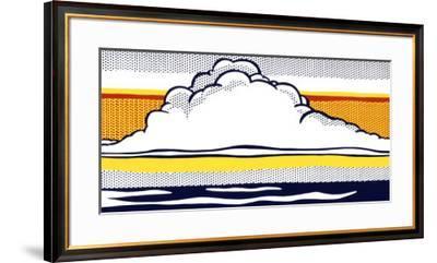 Cloud and Sea, 1964-Roy Lichtenstein-Framed Serigraph