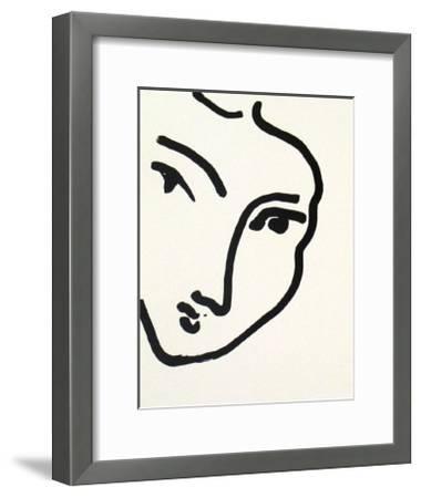 Nadia au Menton Pointu, 1948-Henri Matisse-Framed Art Print