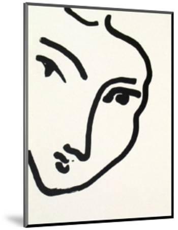 Nadia au Menton Pointu, 1948-Henri Matisse-Mounted Art Print