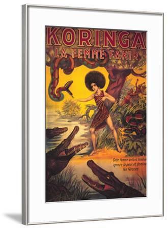 Koringa, La Femme Fakir--Framed Art Print