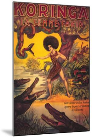 Koringa, La Femme Fakir--Mounted Art Print