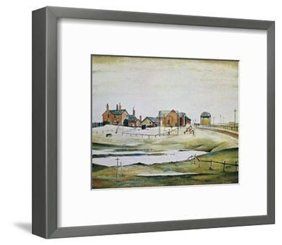 Landscape with Farm Buildings-Laurence Stephen Lowry-Framed Art Print