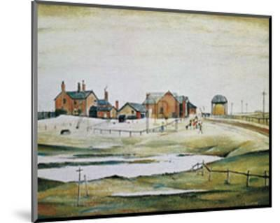 Landscape with Farm Buildings-Laurence Stephen Lowry-Mounted Art Print