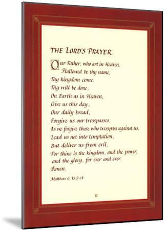 The Lord's Prayer--Mounted Art Print