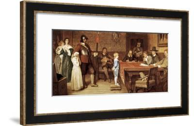 And When Did You Last See Your Father?-William Frederick Yeames-Framed Art Print