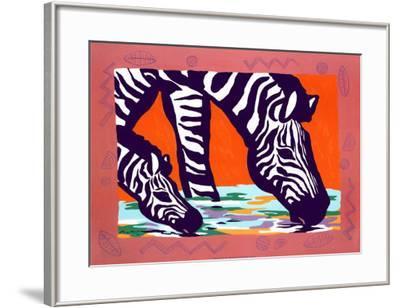 Young Zebra-Gerry Baptist-Framed Art Print