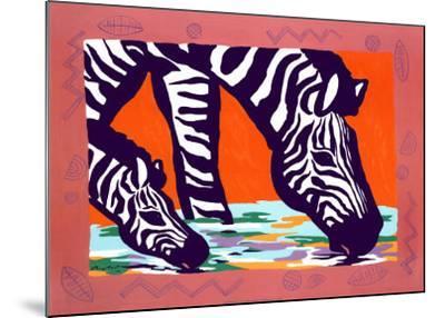 Young Zebra-Gerry Baptist-Mounted Art Print