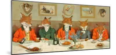 Mr. Fox's Hunt Breakfast-H Neilson-Mounted Art Print