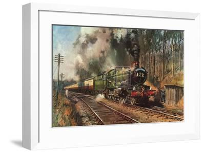 Cathedrals Express-Terence Cuneo-Framed Art Print