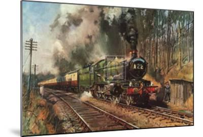 Cathedrals Express-Terence Cuneo-Mounted Art Print