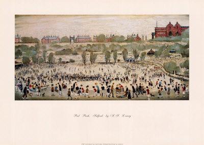Peel Park, Salford-Laurence Stephen Lowry-Framed Art Print