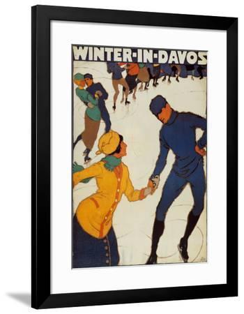Winter in Davos-Burkhard Mangold-Framed Art Print