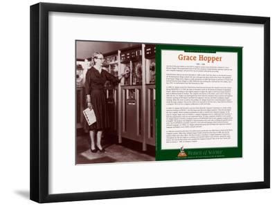 Women of Science - Grace Hopper--Framed Art Print
