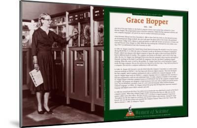 Women of Science - Grace Hopper--Mounted Art Print