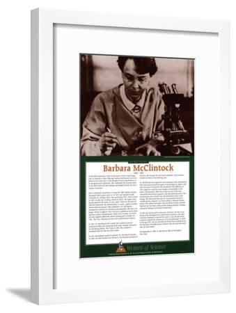 Women of Science - Barbara McClintock--Framed Art Print