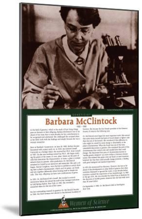 Women of Science - Barbara McClintock--Mounted Art Print