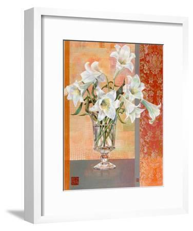 White Lilies-Maya Nishiyama-Framed Art Print