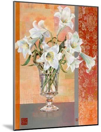 White Lilies-Maya Nishiyama-Mounted Art Print