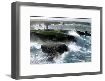 Avis de Coup de Vent sur les Poulains-Philip Plisson-Framed Art Print