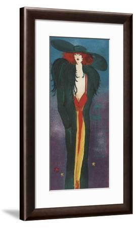 Lady-Monika Olga Dawidowski-Framed Art Print
