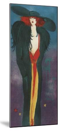 Lady-Monika Olga Dawidowski-Mounted Art Print