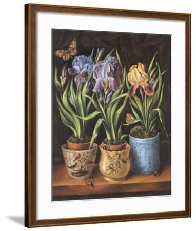Pots with Narcissus-Milieu Du Ciel-Framed Art Print
