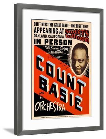 Count Basie Orchestra at Sweet's Ballroom, Oakland, California, 1939-Dennis Loren-Framed Art Print