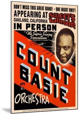 Count Basie Orchestra at Sweet's Ballroom, Oakland, California, 1939-Dennis Loren-Mounted Art Print