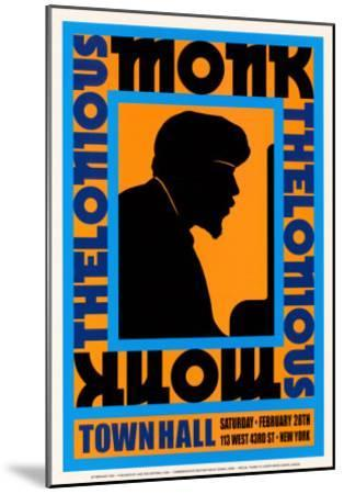 Thelonius Monk at Town Hall, New York City, 1959-Dennis Loren-Mounted Art Print