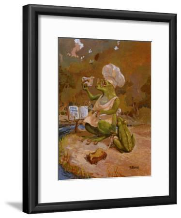 Frog Cookies-Dot Bunn-Framed Art Print