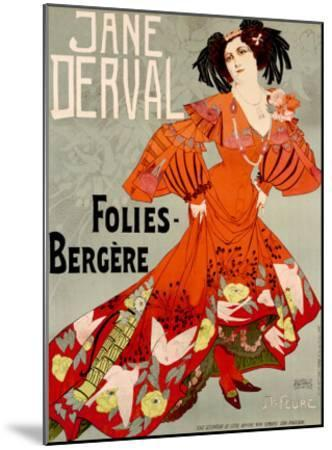 Jane Derval, Folies Bergere-Georges de Feure-Mounted Giclee Print