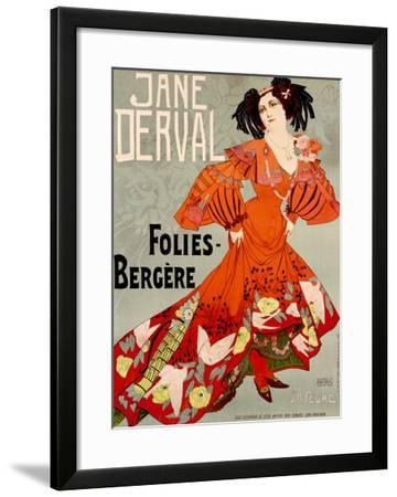 Jane Derval, Folies Bergere-Georges de Feure-Framed Giclee Print