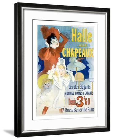 Halle aux Chapeaux, Depuis 3F60-Jules Ch?ret-Framed Giclee Print