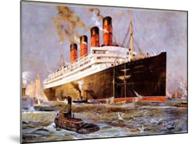 Cunard Line, Aquitania-Odin Rosenvinge-Mounted Giclee Print